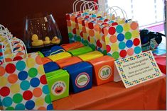 """""""Elmo loves his goldfish, his crayons too! Now you can take them home with you!"""" Cute addition to favors"""