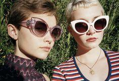 - ̗̀ saith my he A rt ̖́- Vintage Sunglasses, Round Sunglasses, Shady Lady, Cool Magazine, Four Eyes, Makeup Inspo, Eyeglasses, Sunnies, Eyewear