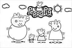 dibujo peppa pig para colorear