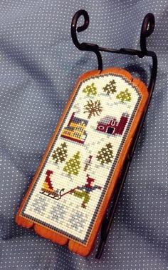 RFD Sledding - Sled Ornament - Cross Stitch Pattern