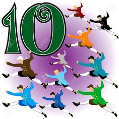 jan on the day of christmas my true love gave to me 10 lords a leaping representing the ten commandments - 10 Days Of Christmas
