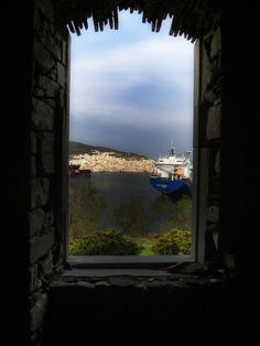 view from Syros island, Greece