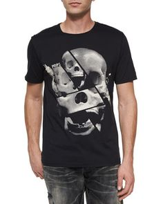 PRPS* Skull Print Graphic Tee, Black