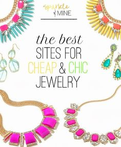 The best sites to shop for affordable & trendy jewelry! Thanks to this post, I scored a gorgeous statement necklace for like $10! Some of the stores I've heard of like Charlotte Russe, but others are total hidden treasures! Best. pin. ever!!