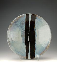 Junction Art Gallery - James Hake Nuka glaze bowl with tenmoku lines www.junctionartgallery.co.uk