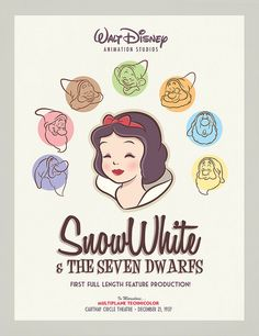 Snow White & the Seven Dwarfs Vintage poster