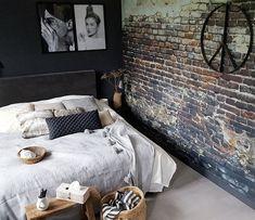 slaapkamer brick wall
