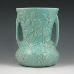 Hull Pottery Crabapple Vase 1934 Hall Pottery, Porcelain Dinnerware, Decorative Tile, Stoneware, Vase, Ceramics, Mugs, Tableware, Apple