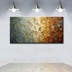Hand Painted Textured Palette Knife Canvas Painting Decorative Flowers Wall Art Modern Home Abstract Oil Picture Set unframed