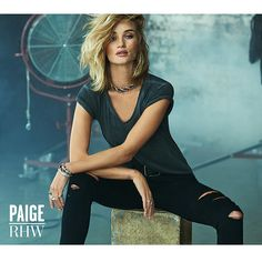 Rosie Huntington-Whiteley's New Campaign Is Begging to Be Pinned to Your Fall Denim Board: If Rosie Huntington-Whiteley is giving you Kate Moss vibes in her latest campaign for Paige Denim, that's not an accident.