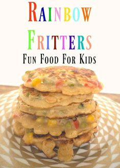 This recipe for Rainbow vegetable fritters is great to not only get the kids in the kitchen cooking but also to get them eating their veg. Frugal Family, Family Meals, Kids Meals, Easy Meals, Toddler Meals, Vegetarian Recipes Easy, Snack Recipes, Delicious Recipes, Easy Recipes