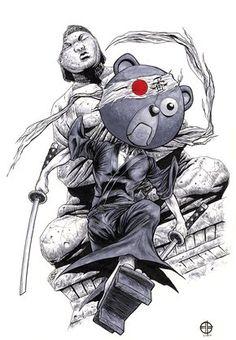 Afro Samurai - Kuma by Brett Barkley * Afro Samurai, Samurai Jack, Manga Anime, Manga Art, Anime Art, Samurai Drawing, Samurai Tattoo, Demon Tattoo, Comic Books Art