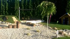 Natural playground with birch tree (designed and constructed by Krekaert ltd Hungary)