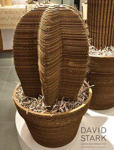 Cardboard Cactus Recycled Art Recycled Cardboard