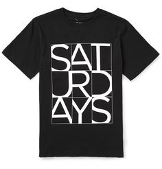 Saturdays Surf NYC Cropped Printed Cotton-Jersey T-Shirt | MR PORTER