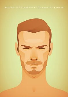 Soccer Prints by Stanley Chow (13 Pictures – Balotelli, Beckham, Maradona, Zidane, Henry, Ronaldo + more) > Illustrationen, Sports > balotelli, david beckham, illustrations, messi, soccer, stanley chow