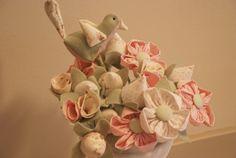 Decoração, flores de tecido.