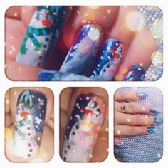 Nail Art Pekevision: Nail Art: Christmas - Arte de uñas: Navidad