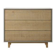 Cómoda de madera gris An. 95 cm