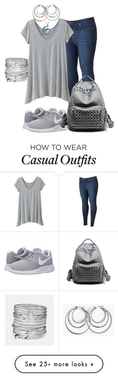 """Plus Size Casual"" by mrsjerzey on Polyvore featuring Simply Vera, TravelSmith, NIKE, Avenue and plus size clothing"