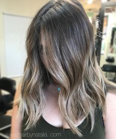 Brunette Balayage. #balayagehair #brunettebalayage #balayage #balayageombre #denver #denverhair #balayagedenver #denverhairstylist #denverart #denverfashion #cherrycreeknorth #lob #lobhaircut