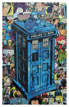 Dr Who Tardis Print 11x17 by ComicCollageArt on Etsy, $20.00