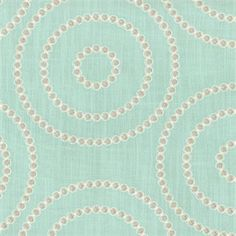 """This is a blue,gray and white embroidered circle design drapery fabric by Waverly, suitable for any decor in the home or office. Perfect for bedding, drapes pillows.v004APEF""""Permission has been granted by Waverly to display copyrighted designs. Product Designs (C) Waverly. All rights reserved."""""""