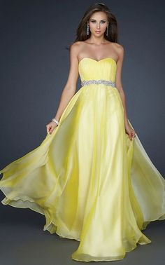 Yellow Sweetheart Floor Length Strapless Dress for Homecoming [Yellow long dress 2012] - $145.20 : Fashion dresses, 50% off Designer dresses at UrDressOnline