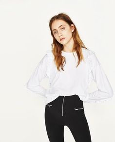 FRILLED T-SHIRT-NEW IN-WOMAN | ZARA United States