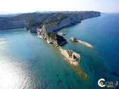 Drasti beach is located 38 km. from the center of Corfu. Corfu Beaches, Corfu Greece, Sandy Beaches, Beautiful Islands, Landscape, Park, Water, Outdoor, Corfu