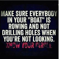 LOVE this! Know your circle. Really, really know them.