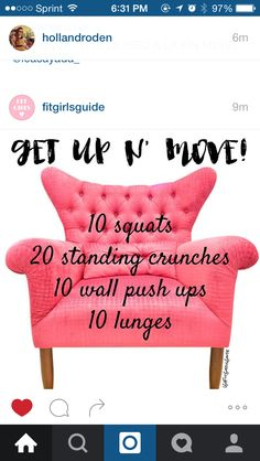 Crunches, Lunges, Squats, Tv Show Workouts, Wall Push Ups, Student Desks, Fitness Motivation, Throw Pillows, Potato