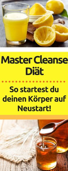 So kannst du mit der Master Cleanse Diät abnehmen So you can lose weight and detox with the Master C Maple Syrup Recipes, Lemon Recipes, Diet Recipes, Healthy Recipes, Master Cleanse Diet, Cleanse Detox, Jus Detox, Healthy Balanced Diet, Healthy Life