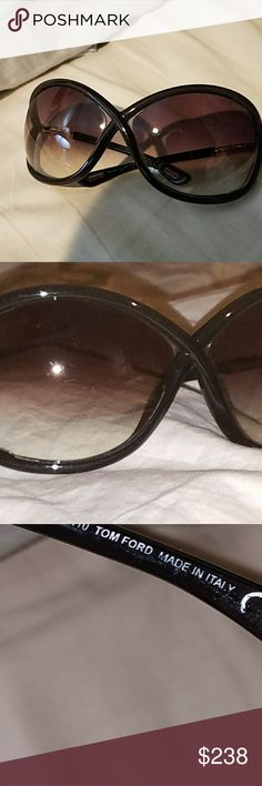 Tom Ford sunglasses on SALE  $238 In great condition has a few tiny scratches not much and the color is navy blue with gold Tom Ford Whitney Accessories Glasses