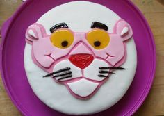 Pink Panther Birthday Cake Recipe -  Awesome let's eat Pink Panther Birthday Cake