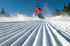 Nothing like the crunch of freshly-pisted snow under your skis.  Love this shot - makes my feet itch for my ski boots!