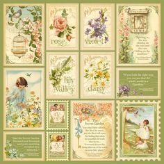 """""""Springtime"""" front page from our new collection Secret Garden. In stores February! .........Blog has Fab Printables!"""