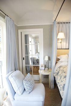mirrored closet doors...idea to change m's doors and office doors