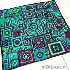 Crochet Along blanket - mellieblossom.com