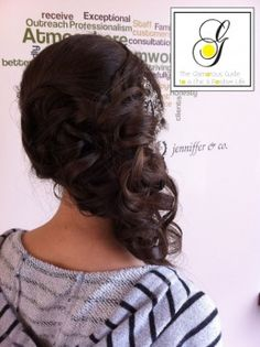 Side updo - to hide your neck