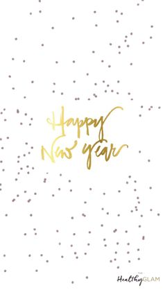 Happy New year 2017 iphone glitter and gold wallpaper