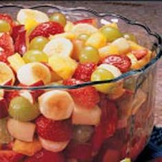 Fruit Salad with Apricot Dressing « When I serve this lovely refreshing salad for picnics and holidays, the bowl empties fast.