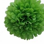 "14"" Leaf Green Tissue Paper Pom Poms BULK (Set of 4) $16, must fold them yourself, but excellent color selections."