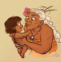 This is soooo cute Grandma Tala and little Moana   ♔∞♡✞Pinterest: @EnchantedInPink♔∞♡✞