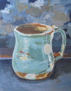 evening tea original painting by jaclynevalds on Etsy