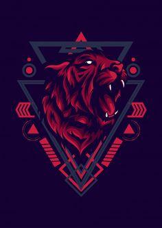 Discover thousands of Premium vectors available in AI and EPS formats Vector Design, Vector Art, Design Art, Dog Design, Logo D'art, Shark Logo, Game Logo Design, Lion Logo, Stencil Art