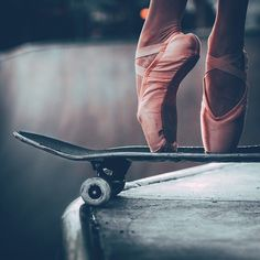 Photo. Cool. Ballet. Ballerina. Skateboarding. Pink. Graceful. Sports. Contrast. Spotted via @lastsuspect's photo on Instagram ☮ re-pinned by https://about.me/southfloridah2o