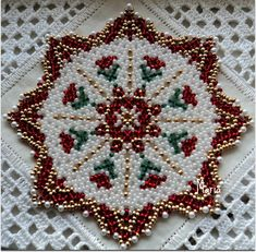 Discussion on LiveInternet - Russian Service Online Diaries Beading Tutorials, Beading Patterns, Beaded Christmas Ornaments, Beaded Crafts, Christmas Pictures, Beaded Flowers, Bead Art, Bead Weaving, Pearl Beads
