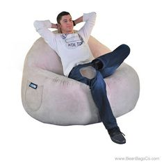 2  Seater Sitsational Bean Bag Chair   Soft Suede Lounger