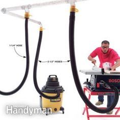 Fantastic info for making it easy to use your shop vac for dust collection. I'd add in a Oneida Dust Deputy as a separator.